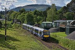 Blair Atholl (whosoever2) Tags: uk united kingdom gb great britain scotland nikon d7100 train railway railroad june 2019 blairatholl scotrail class170 170413 1b54 inverness edinburgh highland