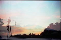 (✞bens▲n) Tags: pentax lx natura 1600 fa 43mm f19 limited film analogue negative sky asama mountain multiexposure evening