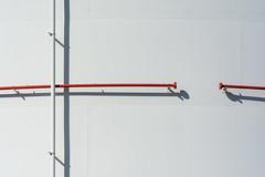 White and red pipes (Jan van der Wolf) Tags: map195132v red rood pipe pipes white wit storagetank opslagtank lines lijnen lijnenspel interplayoflines playoflines shadow schaduw simple simpel