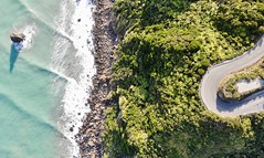 On the road - New Zeland (YoannPriol) Tags: blue drone dronephotography travel newzealand landscape birdeye aerial ocean road waves newzealandwestcoastt cliffs
