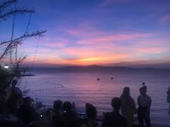 sunset (ChalidaTour) Tags: thailand thai asia asian sun sunset sundown ocean sea night time blue orange people view chocolate factory pattaya