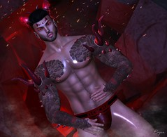 Creature Of The Night (Bryan Trend) Tags: head lelutka guy body belleza jake violetility horns {egosumaii} thorns spikes freya venus isis maitreya signature gianni geralt slink hourglass physique identity shop tattoo omega man cave event noche jockstraps jock joplino decor backdrop suicide dollz male model men gay new post blog blogger sl secondlife second life