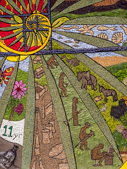 Youlgreave Coldwell End Well 2019 detail (little mester.) Tags: derbyshire derbyshirepeakdistrict welldressing welldressing2019 youlgreave well tradition wildflowers