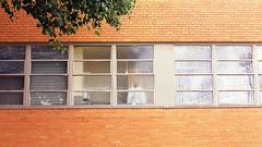Hospital Attire (Industrial Relics Photography) Tags: nikon f100 nikkor 50mm 18 kodak kodacolor colorplus 200 hospital brick windows