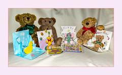 Sky's other Birthday (fenman_1950) Tags: teddybears teddybeartuesday birthday card sonya77 sky poshbear bertie