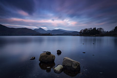 One from a while ago... (Griff~ography) Tags: derwentwater lakedistrict cumbria uk england dawn clouds pink sky movement water calm rocks trees mountains peaks longexposure leefilters landscape