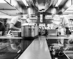 Busy Chefs in the kitchen (Dave Denby) Tags: kitchen parliament square long exposure mono chef sous cook cooking