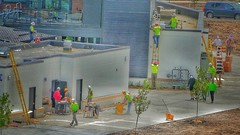 Construction Crew (Ken Mattison) Tags: menworking construction people street outdoor atmosphere composition hdr landscape color colours rocksportscomplex routinefield wisconsin usa panasoniclumix pastel