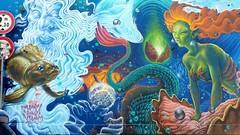 street art (sabinakurt_photo) Tags: graffiti streetart streetartphotography sabinakurtphotography milan milanonavigli samsunggalaxy9 mural navigliogrande painting colors wallart italy europe travel travelphotography streetsofmilan visititaly loveitaly water fish sirene
