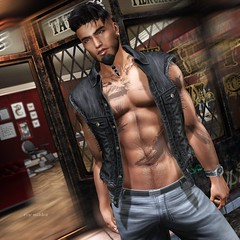 """""""How many cares one loses when one decides not to be something but to be someone."""" (Roy Mildor / Designer) Tags: roymildor topstriker shape meshbody maleshape man men guy cool xesy style avatar mesh sl secondlife dennis dennisshape"""