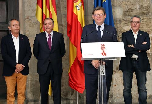Reunión president Generalitat y agentes sociales