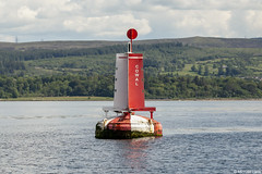 The Cowal mid-channel marker buoy; off Dunoon, Cowal Penisula, Firth of Clyde, Scotland (Michael Leek Photography) Tags: cowal cowalpeninsula clyde firthofclyde scotland scottishcoastline scottishlandscapes scotlandslandscapes scottishshipping westcoastofscotland westernscotland dunoon navigationlight navigation markerbuoy buoy shippingbuoy inverclyde gourock scotlandsbeauty scotlandinthesun michaelleek michaelleekphotography shipping