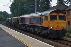 County Connection: 66729 6M14 Elsenham 25/06/19 (TheStanstedTrainspotter) Tags: train trains rail railway transport transportation publictransport westanglia westangliamainline elsenham gbrf gbrailfreight 66 class66 66729 derbycounty 6m14 harlow harlowmill bardonhill freight aggregates harlowmillaigbrf