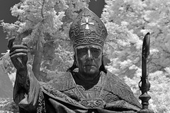 Bishop Bernard John McQuaid (1823-1909) (dr_marvel) Tags: ir infrared rochester ny newyork holysepulchre cemetery statue sculpture religion catholic bishop