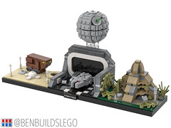 "Lego Star Wars - ""A New Hope"" Skyline MOC (2)"