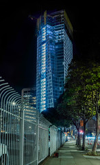 1500 mission gate (pbo31) Tags: bayarea california nikon d810 color night dark black june 2019 summer boury pbo31 sanfrancisco city urban soma missionstreet panorama large stitched panoramic 1500 contemporary construction gate roadway blue