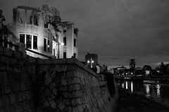 Hiroshima - Genbaku Dome (-dow-) Tags: genbakudome giappone hiroshima japan 日本 原爆ドーム monochrome fujifilm x70 広島