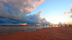 Cloudy sunset (Ben_F.) Tags: saint jean de monts vendée ponton sea sunset coucher soleil