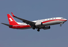 B-5705 Shanghai Airlines B738 (twomphotos) Tags: shanhaiairlines boeing b738 plane spotting zsss sha landing rwy18l evening