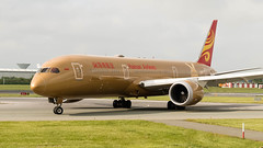 B-1343 Boeing 787-9 Dreamliner Hainan Airlines EIDW 25-6-19 ex Kung Fu Panda scheme (Conor O'Flaherty) Tags: b1343 hainan boeing 787 dreamliner 789 7879 eidw dublinairport dublin dub airport edi beijing taxi aviation plane jet ge generalelectric skytrax gold special