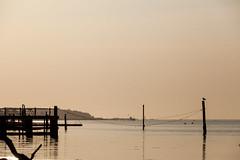 Bouldnor beach - Pier (Visit Isle of Wight) Tags: bouldnor visitisleofwight isleofwight slowwighttravelguide scenery nature light peaceful coast sky sea water pier dusk wild lowlight calm