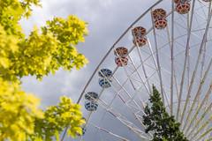 Ferris Wheel at Lagoon Amusement Park (aaronrhawkins) Tags: ferriswheel lagoon amusement park ride tall colorful spokes wheel car cloudy sky farmington utah fun summer aaronhawkins