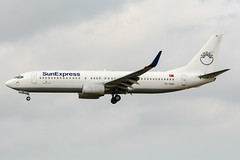 TC-SUH (PlanePixNase) Tags: aircraft airport planespotting bru ebbr brussels brüssel bruxelles zaventem sunexpress boeing 737800 b738 737