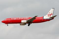 OO-VES (PlanePixNase) Tags: aircraft airport planespotting bru ebbr brussels brüssel bruxelles zaventem boeing virgin express 737 b734 737400