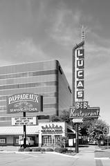 Lucas B&B Restaurant (dangr.dave) Tags: dallas tx texas downtown historic architecture neon neonsign lucasbbrestaurant pappadeaux