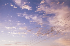 a painted summer sky over millbrae (Duke of Gnarlington) Tags: canon a1 50mm 12 fuji 400h millbrae sky cloud heatwave summer evening