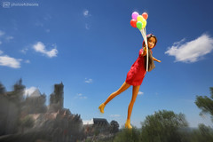 ... and then she just flew away (photos4dreams) Tags: dress barbie mattel doll toy photos4dreams p4d photos4dreamz barbies girl play fashion fashionistas outfit kleider mode puppenstube tabletopphotography fashionista balloons canoneos5dmark3