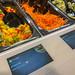 Ein bunter Paprikamix und geraspelte Möhren als Salatbeigabe an der Picadeli Salatbar