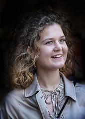 Portrait (D80_537701) (Itzick) Tags: denmark copenhagen candid colorportrait color youngwoman face facialexpression streetphotography smile necklace portrait d800 itzick