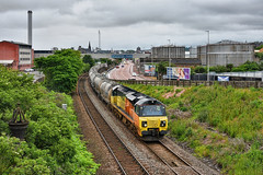 Tanked Up (whosoever2) Tags: uk united kingdom gb great britain scotland nikon d7100 train railway railroad june 2019 dundee colas class70 70812 6a65 oxwellmains aberdeen craiginches cement