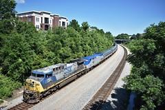 Amtrak #91 (ryanstuart1) Tags: amtrak silver star columbia sc south carolina lady street railroad csx class one rail ac44cw locomotive general electric p42dc amfleet viewliner passenger train 91 po91