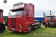 Add Watermark20190625030158 (richellis1978) Tags: truck haulage transport logistics kelsall show 2019 scania 143 143m n804ahh hatcher high roof