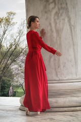 Ballerina in red (ABWphoto!) Tags: usa washingtondc woman one posing ballerina dress ballet beauty onewoman artistic classical naturallight