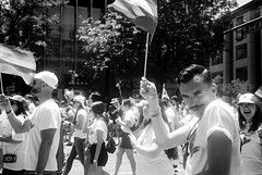 R1-008-2A (David Swift Photography) Tags: davidswiftphotography philadelphia pennsylvania centercityphiladelphia parades gaypride phillygayprideparade streetphotography streetportraits flags gatherings 35mm olympusstylusepic ilfordxp2