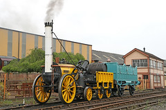 Rocket (Roger Wasley) Tags: rocket steam train engine railways vintagetrains replica tyseley birmingham england rainhill trials george stephenson