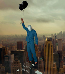 """""""Goodbye"""" (Kavan The Kid) Tags: kavan kid surreal surrealism self portrait photography photosho photo image cardoza art fine amazing alone strange scary sad spooky sadness dark death different dead weird beauty bizarre black beautiful balloon balloons night day morning bed dream dreams photoshop photograph pain off imagination inspirational inspiring interesting lighting unique yarn magic magicial masks magical nightmare bizzare voiceless creepy conceptual cinematic cool canon concept composition"""