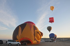 Balloons on the Beach (Tom_bal) Tags: hot air balloon weston super mare nikon d90 lion fly aviation