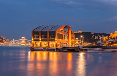 Danube river (Vagelis Pikoulas) Tags: budapest buda hungary europe travel holidays photography blue hour city cityscape long exposure view canon 6d tamron 70200mm june summer 2019 water night nightscape