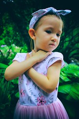 Poised (Crusty Da Klown) Tags: poised poise pose dress portrait girl child kid colorful colors green bright brilliant canon beautiful cute