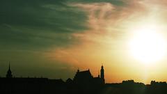 Warsaw evening (Darek Drapala) Tags: warsaw warszawa water view vistula city cityscape civilization panasonic poland polska panasonicg5 evening sun sunset lumix light
