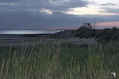 Baywatching (alundisleyimages@gmail.com) Tags: wallasey wirral dusk weather rnli lifeguards post lookout observationpost rescue wildgrass beach seadefence skies clouds crosby liverpool rivermersey port evening remoteflash nikon captur nature floatsam landscape seascape vista england uk