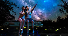 There is stardust in your veins. We are literally, ultimately children of the stars (meriluu17) Tags: star love couple foxcity deaddollz them wish makewish make night lake fireflies lights sky people portrait romance romantic