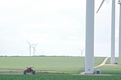 Less is more... (Jeannette Greaves) Tags: lessismore 2019 photo contest flickr windfarm wind spraying crop farmer field canada manitoba turbines