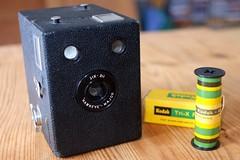 Kodak Hawkeye- Major Six-20 (Philippe_28) Tags: kodak box camera boîte photo analogue argentique analog hawkeye major six20 film 620 medium moyen format 6x9