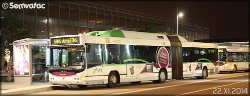 Volvo 7000 A GNV - Semitan (Société d'Économie MIxte des Transports en commun de l'Agglomération Nantaise) / TAN (Transports en commun de l'Agglomération Nantaise) n°239