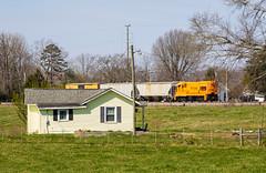 Belton,SC (Kyle Yunker) Tags: pickens railroad pick general electric locomotive ge u18b train farm house